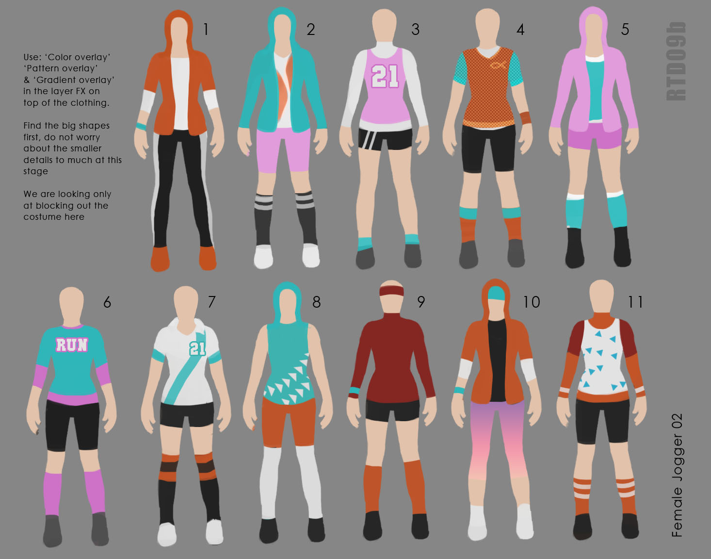 Paper Doll Shapes Colour blocking