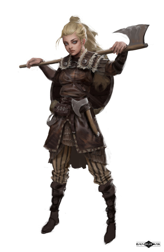 Artstation Viking Shield Maiden Banjiu E Vik