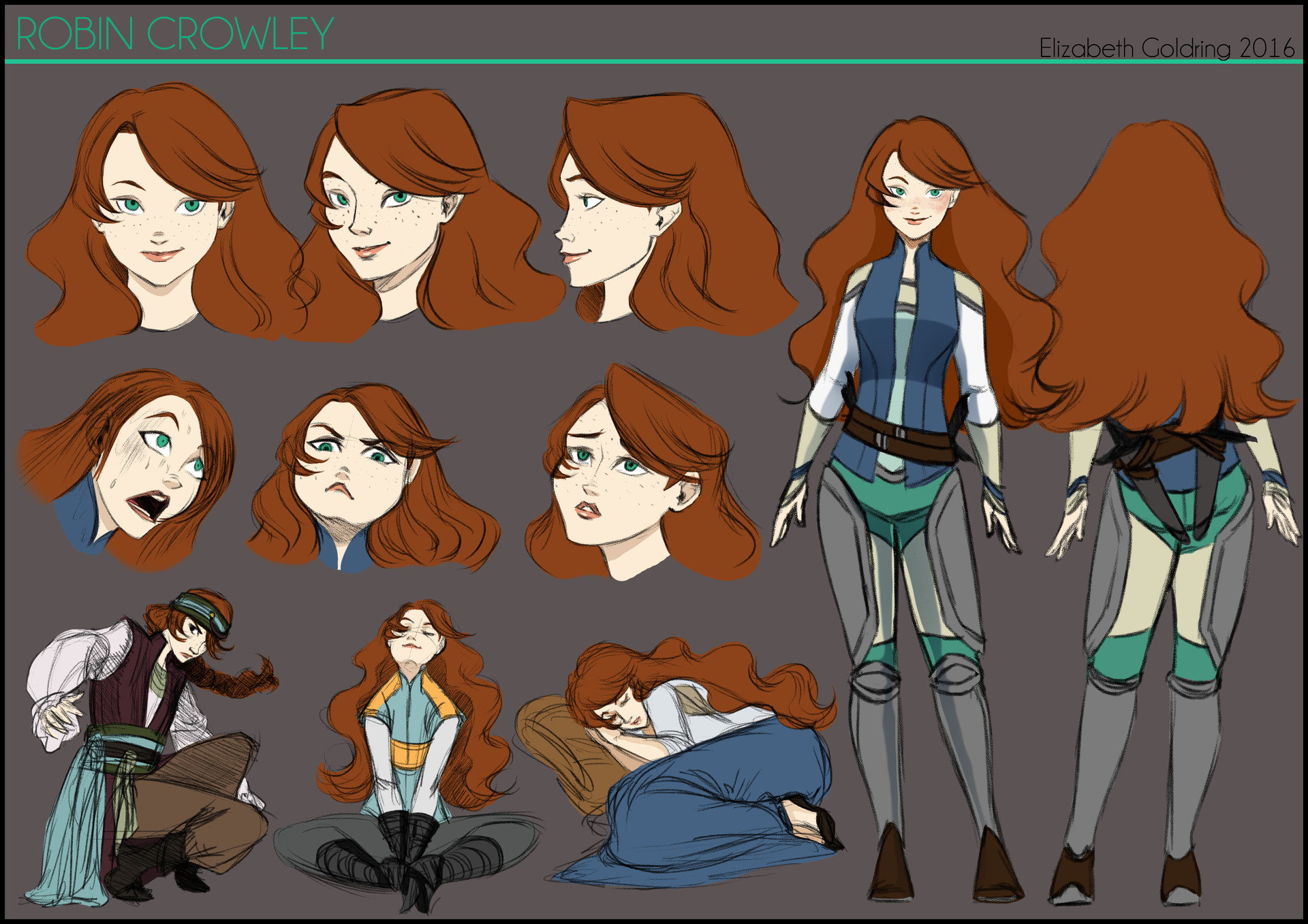 Elizabeth goldring robin chara sheet color