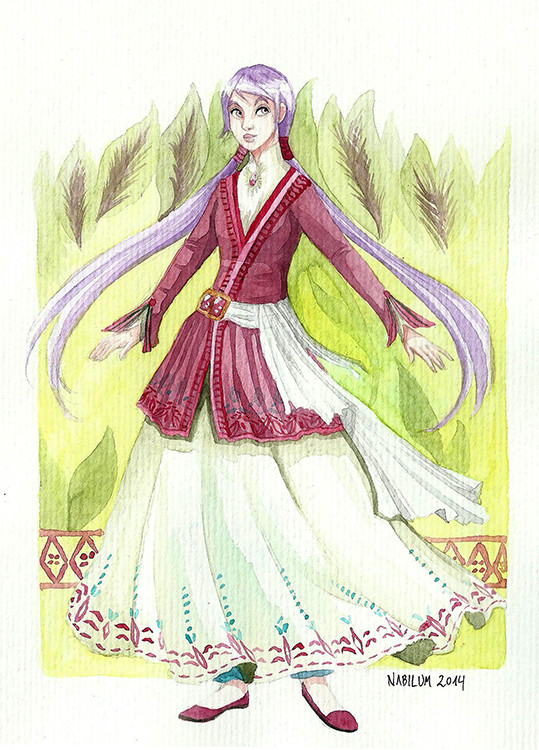 The clothing for Rose's people is based on mid persian fashion