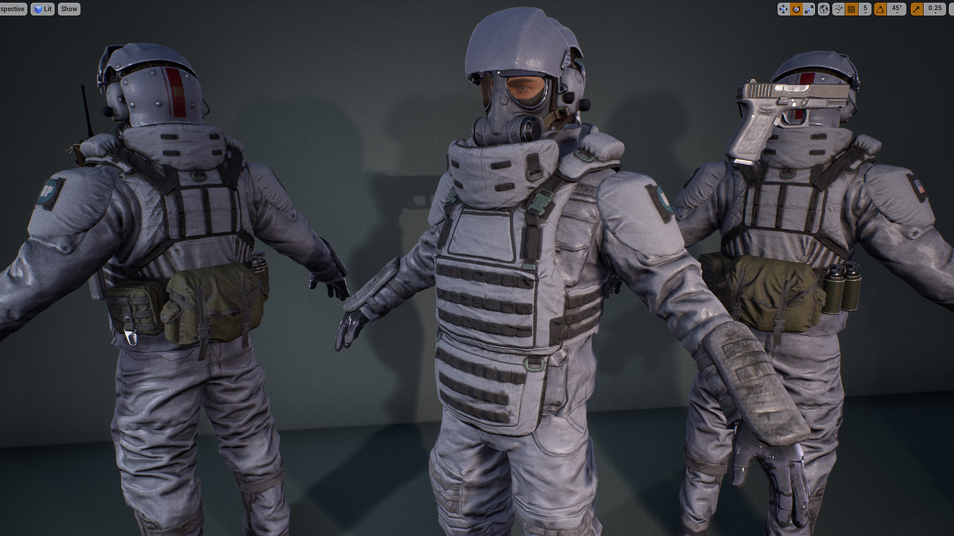 ArtStation - Heavy G soldier and Free Pistol Asset, Alex Ponomarev