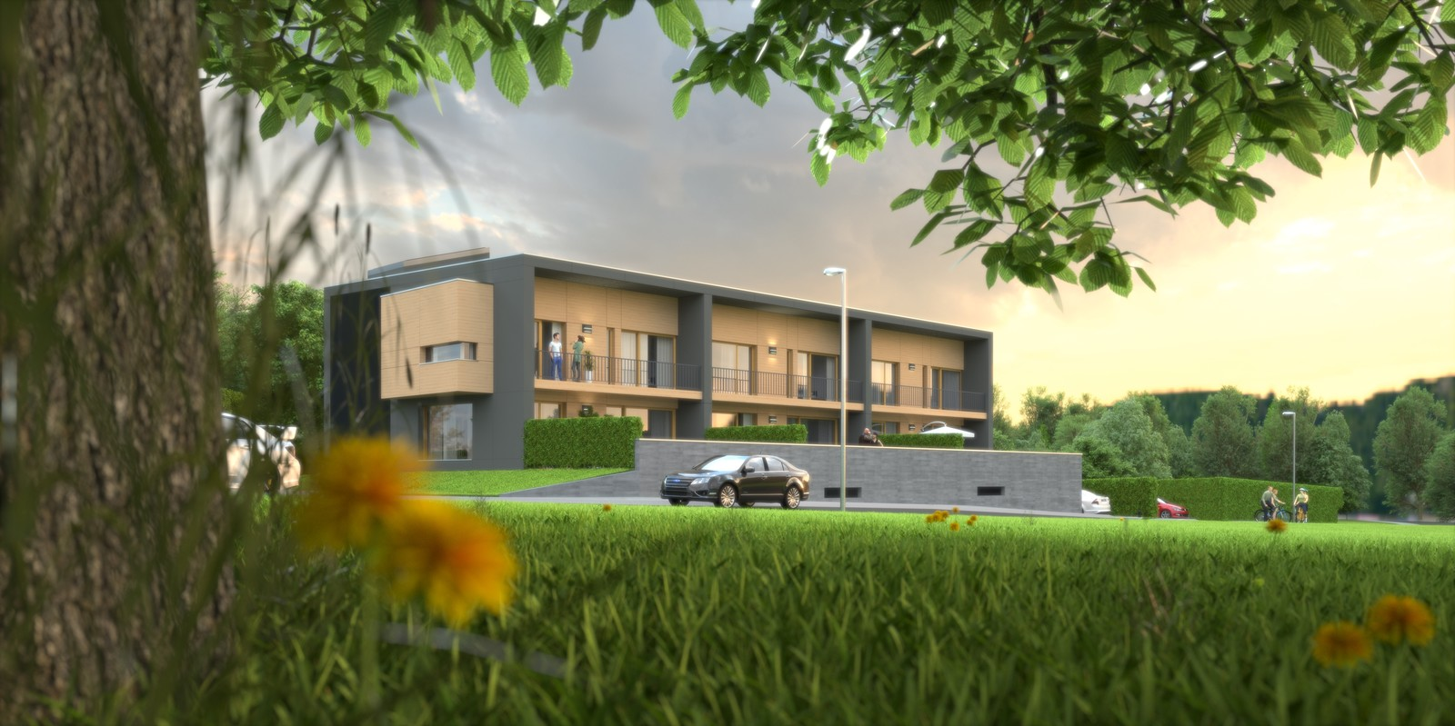 09 Exterior SW under tree 04 Final 02 BIG 02  KP webpage of project: http://www.kemppro.com/KP_3D_communication_3_Villas_Veyrier.html