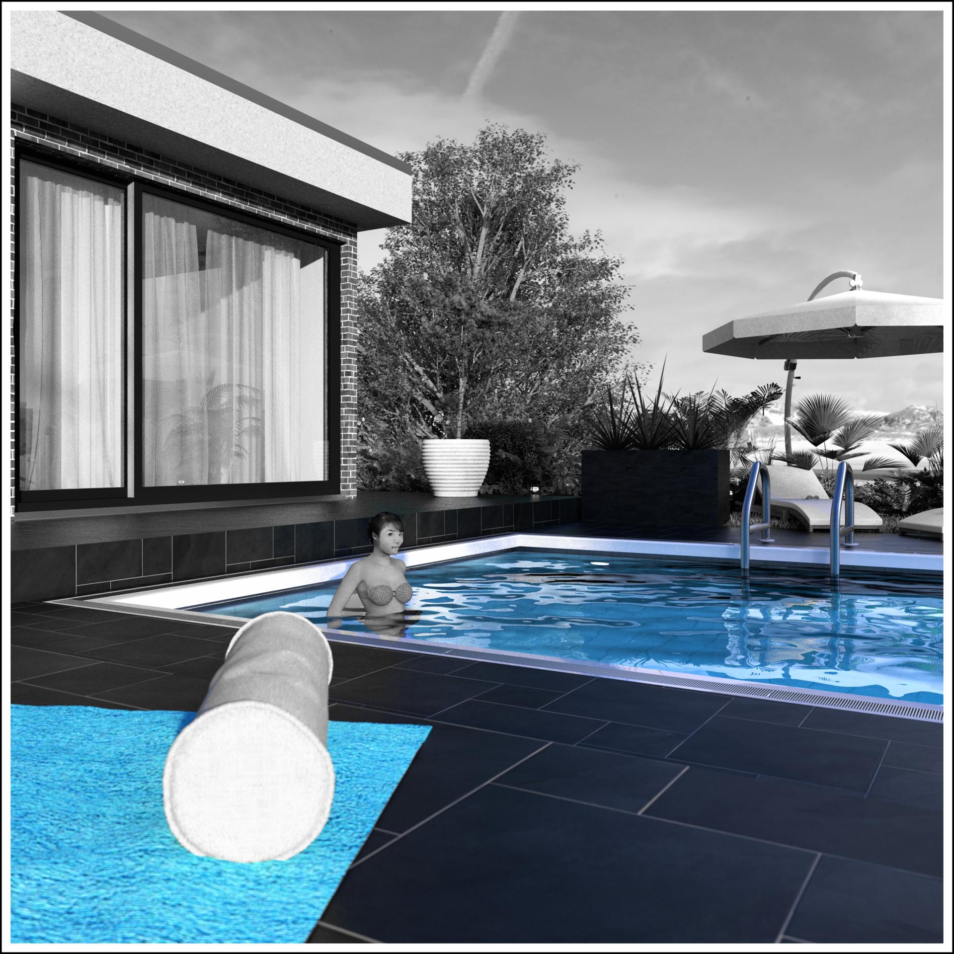 Duane kemp 15 bungalow poolside scene 63 splash white