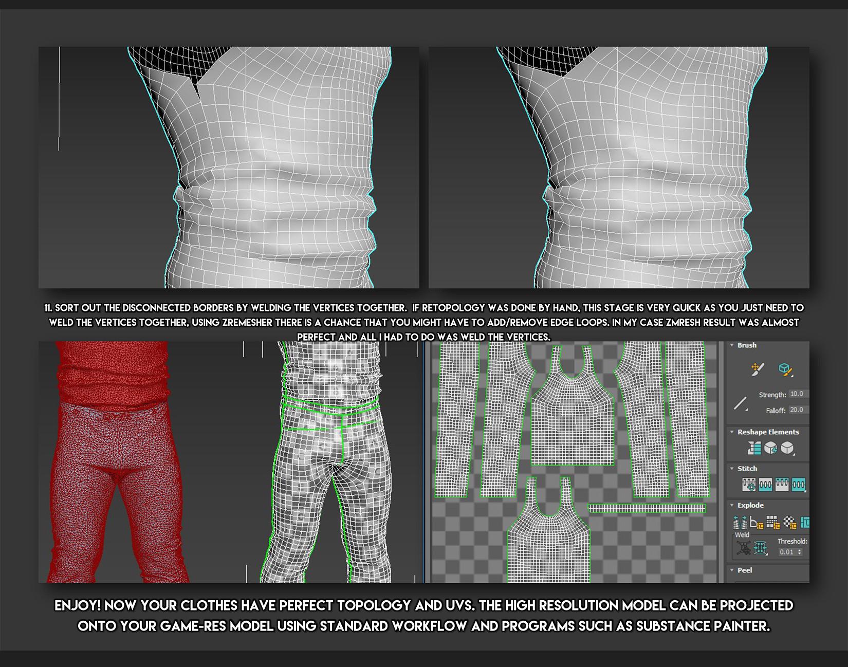 Clothes Design Game | Artstation Marvelous Designer Game Asset Workflow Jonas Roscinas