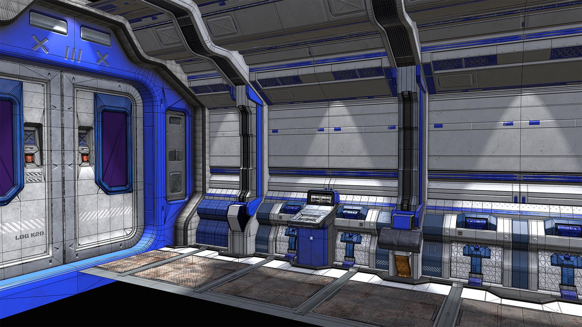 Chris arnold scifi corridor topo