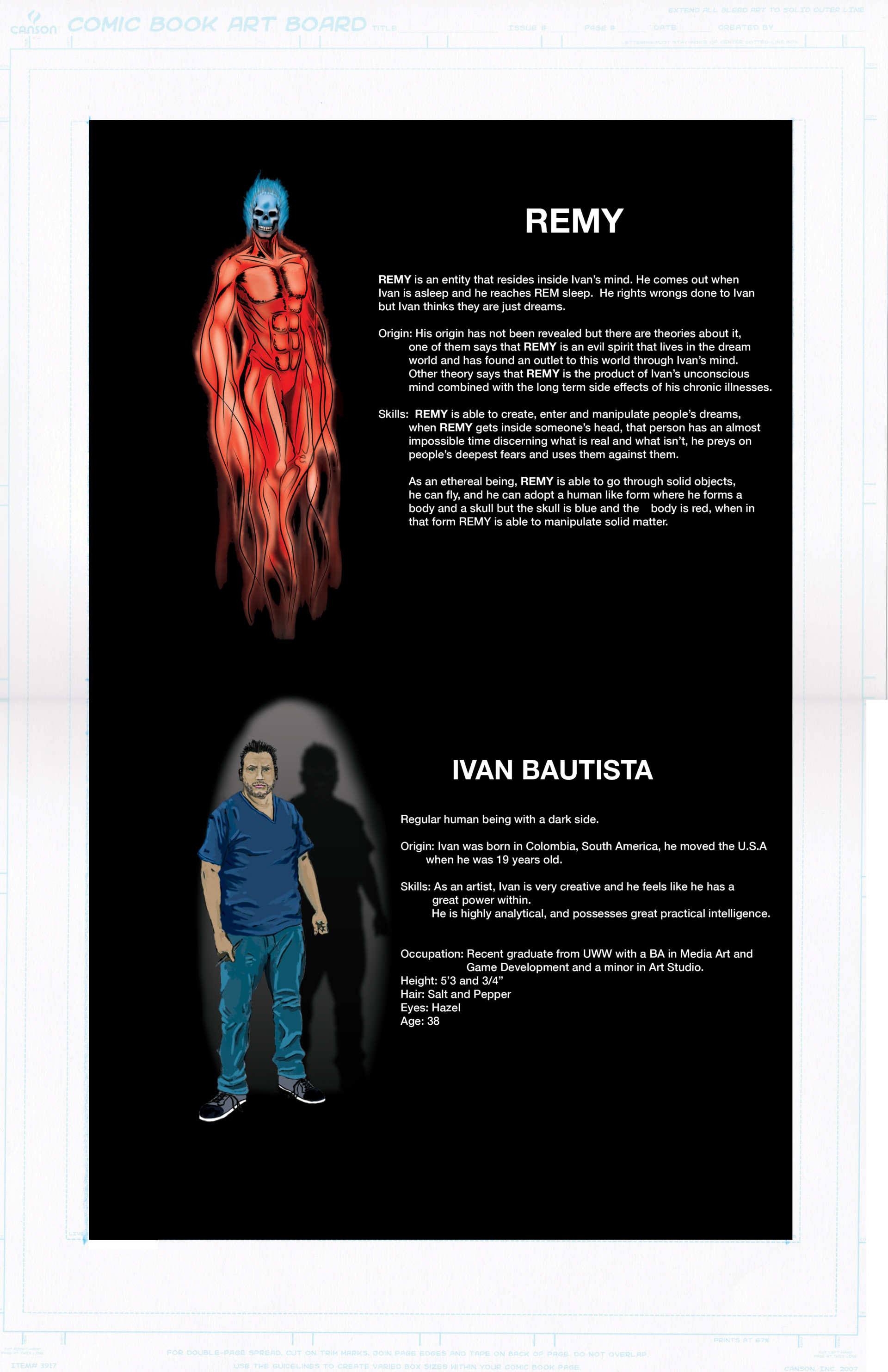 Ivan bautista remy character design graphic novel insert by ivan bautista fall 2016