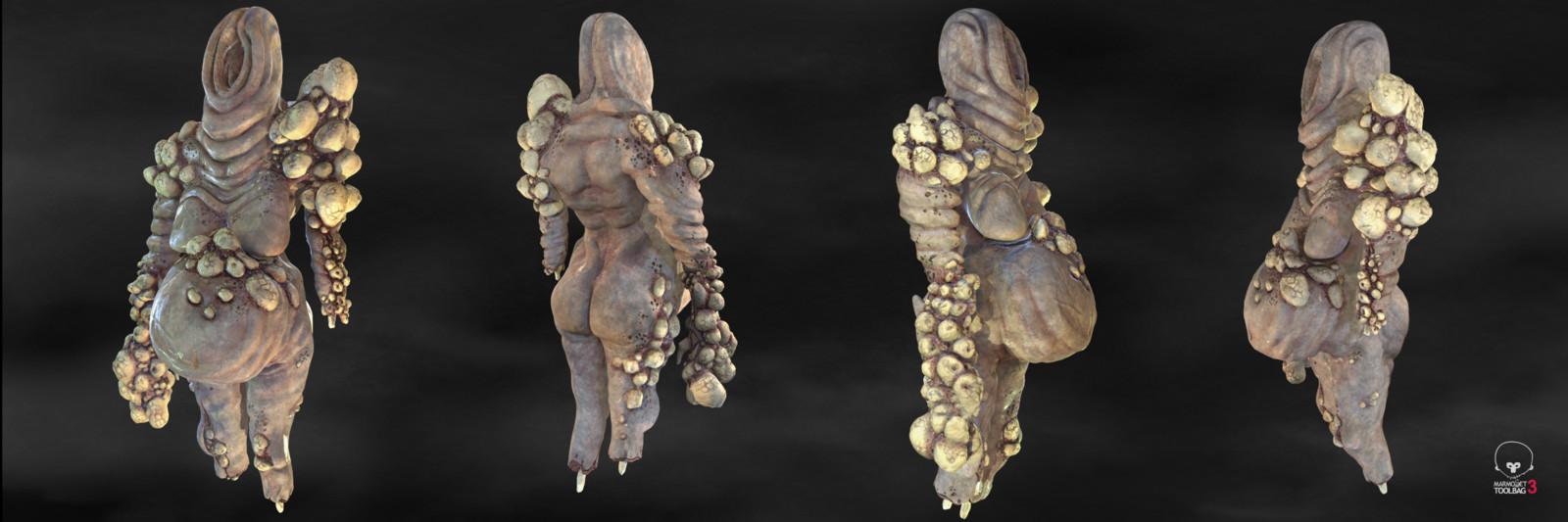 Willendorf (parasite) Zbrush, 2019