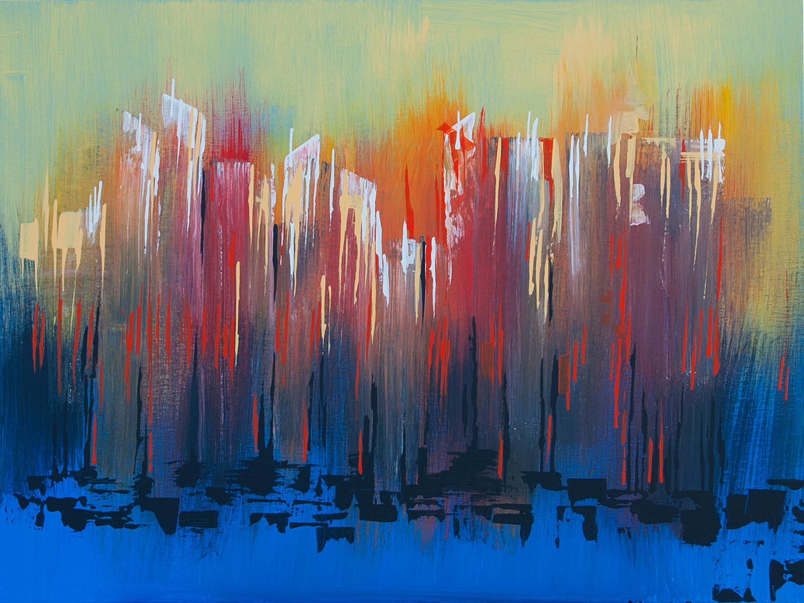 Dream, 4.00 PM Acrylic on canvas (80 x 60cm)