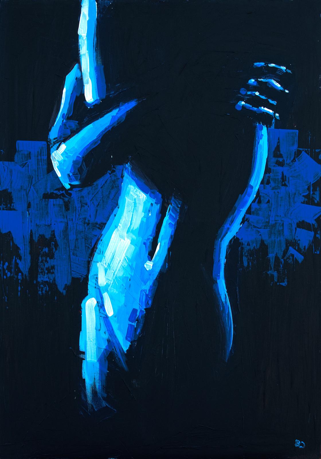 Daydream, The Gallows Pt. 1 Acrylic on canvas (70 x 100cm)