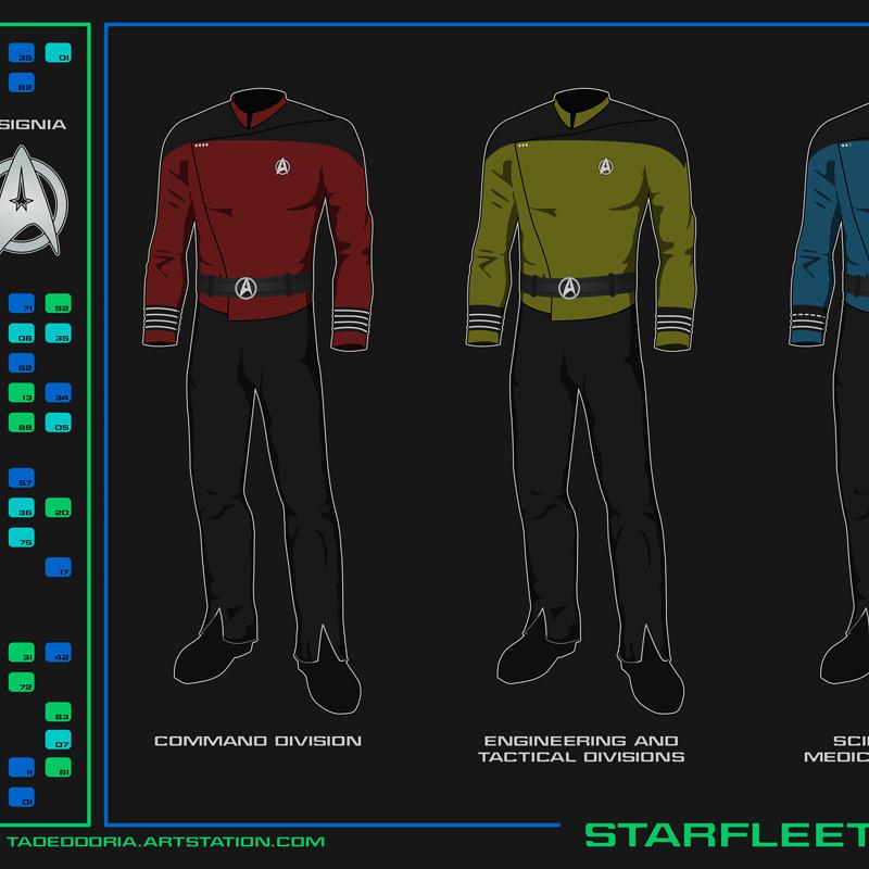 Star Trek Early 24th Century Uniforms