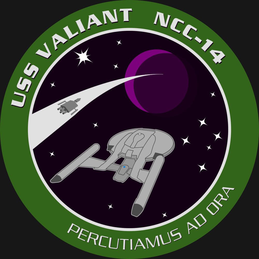 The patch for the USS Valiant, this done as a paid commission for a DeviantArt user