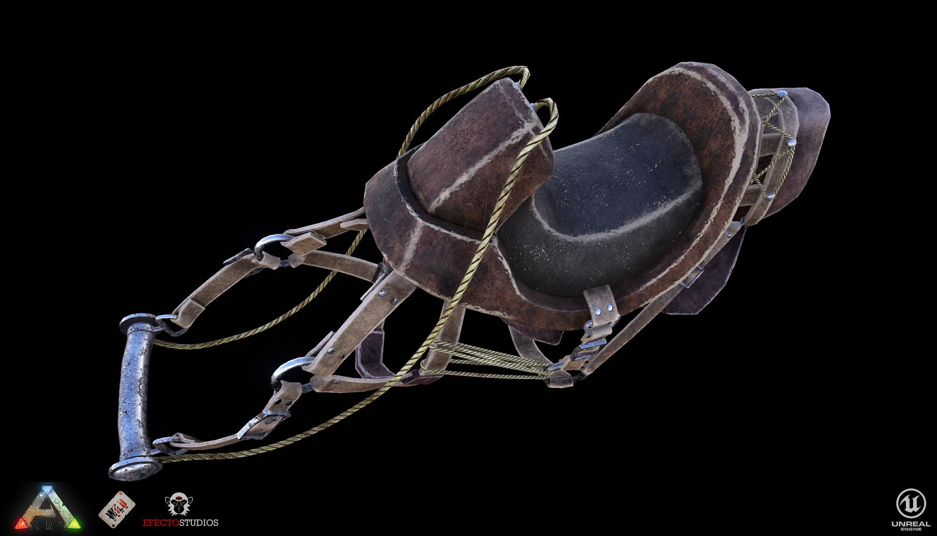 ArtStation - Ark: Aberration - Rock Drake Saddle, Erik Paez