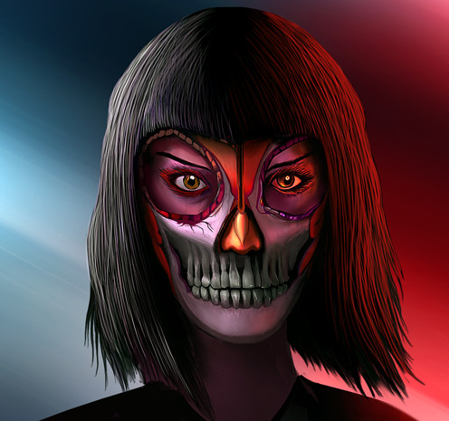 Jayden Lee Skull Maiden Jayden has fun with a vibrator. jayden lee skull maiden
