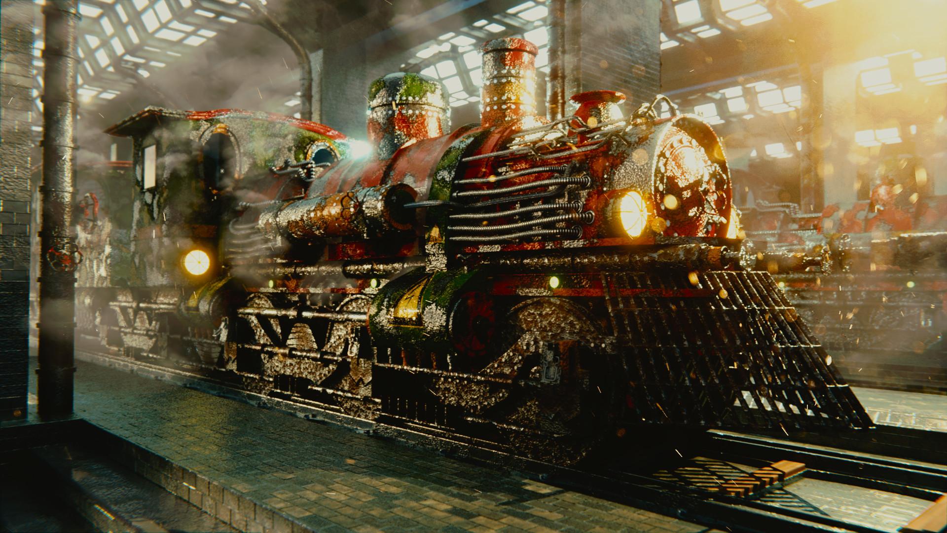 ArtStation - Steampunk Train, Marco Di Vita