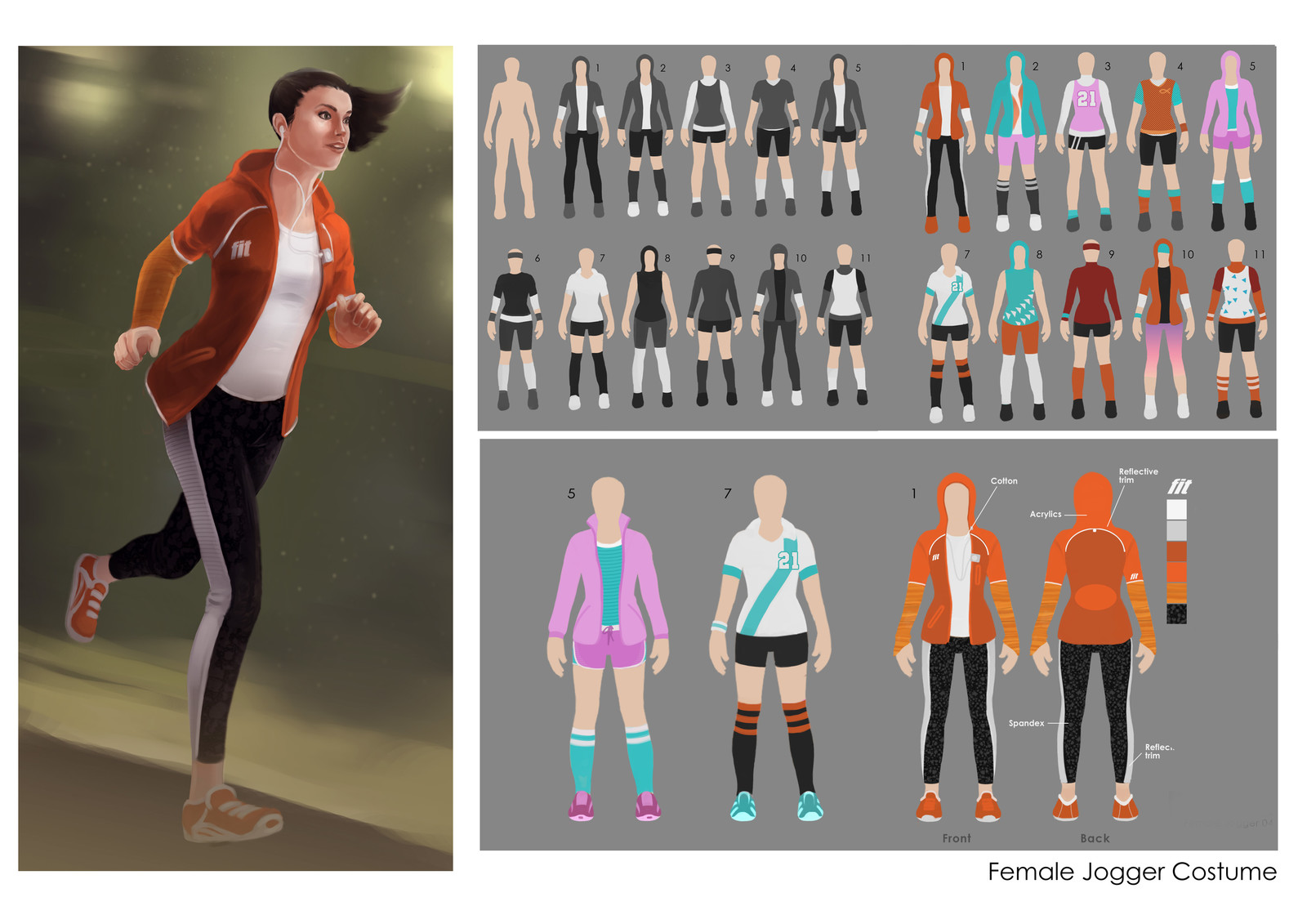 Collected images of the process plus painted up version.