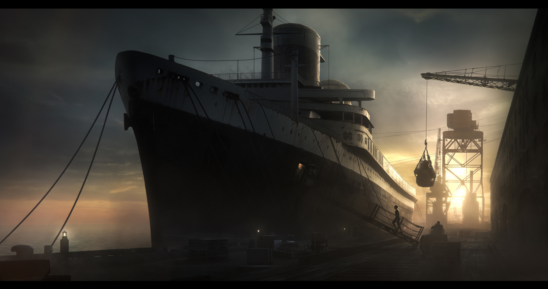digital matte painting comped