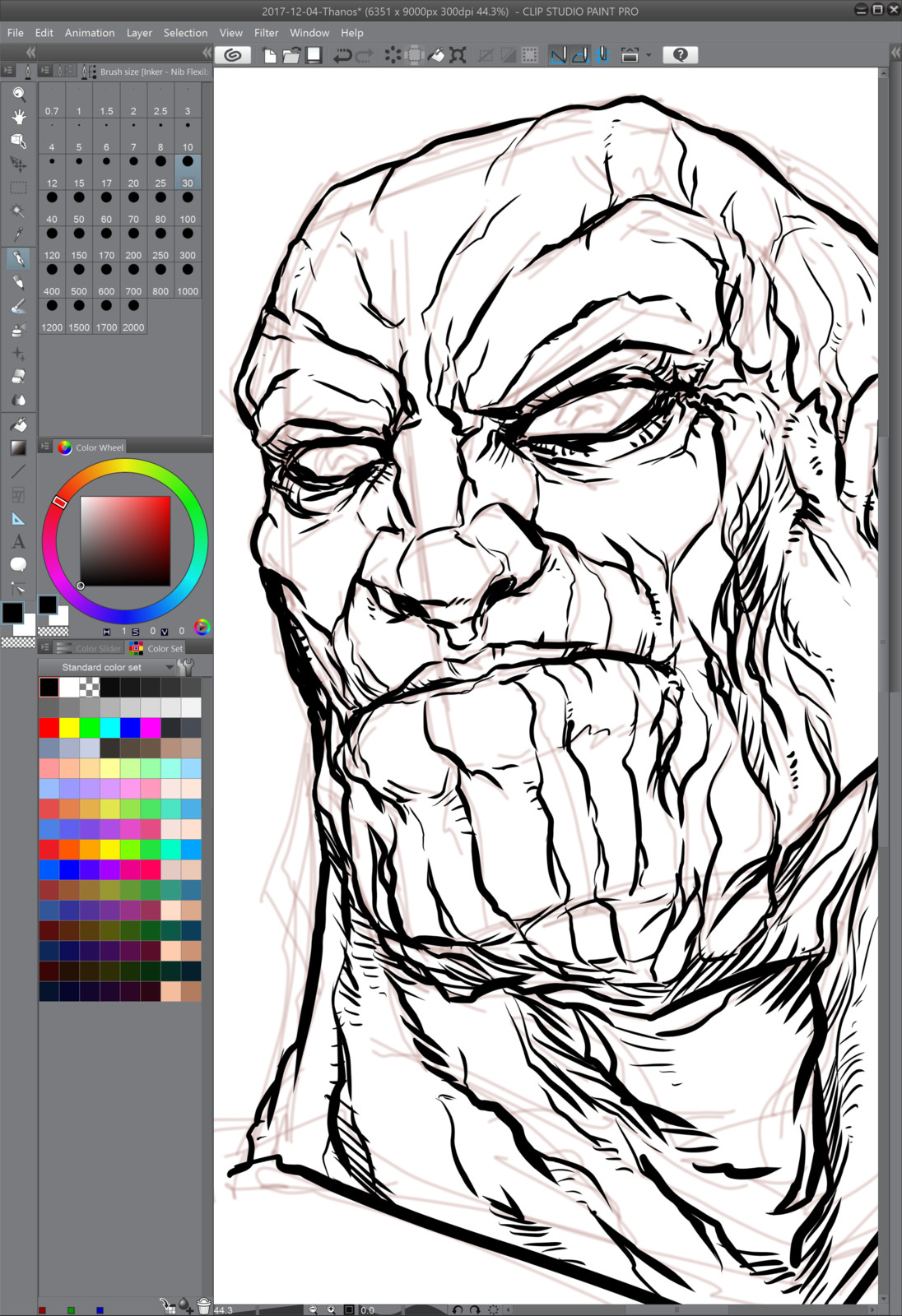 02- Inking over the rough lines