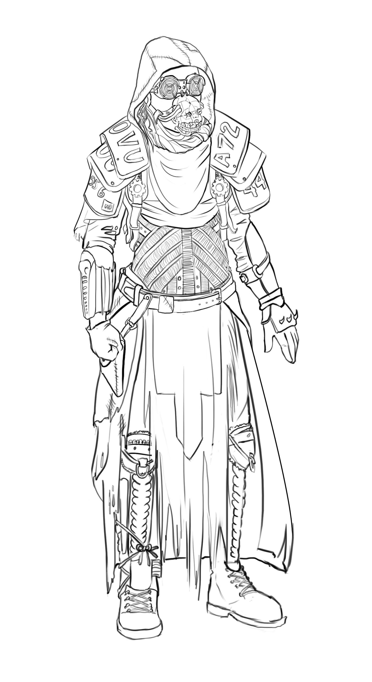 Elizabeth ware character1 lineart