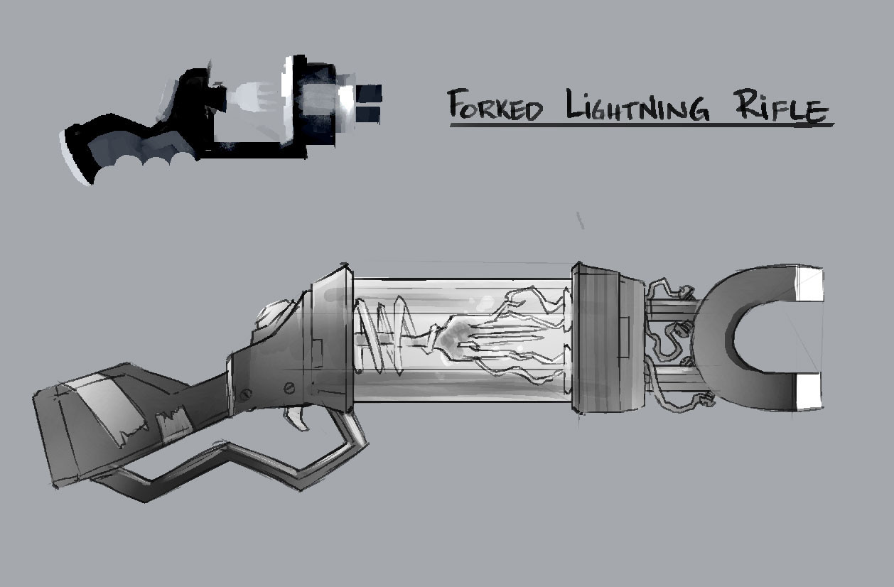 Forked Lightning Rifle - Weapon/Prop Concept