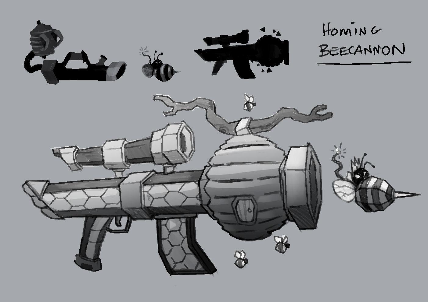 Homing Beecon/Beezooka - Weapon/Prop Concept