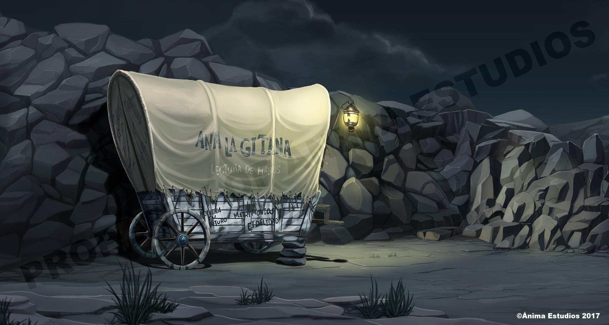 The broken wagon.