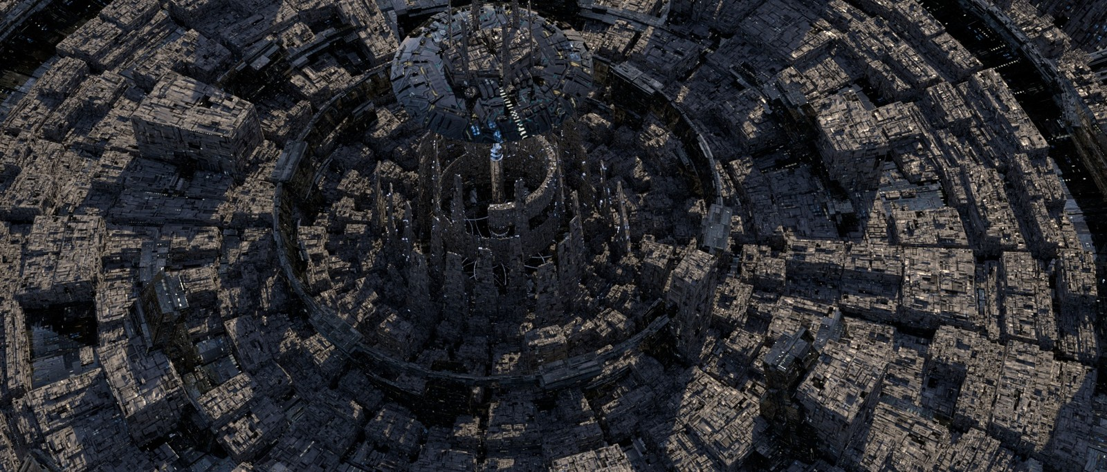 center with textures / no atmospheric effect.