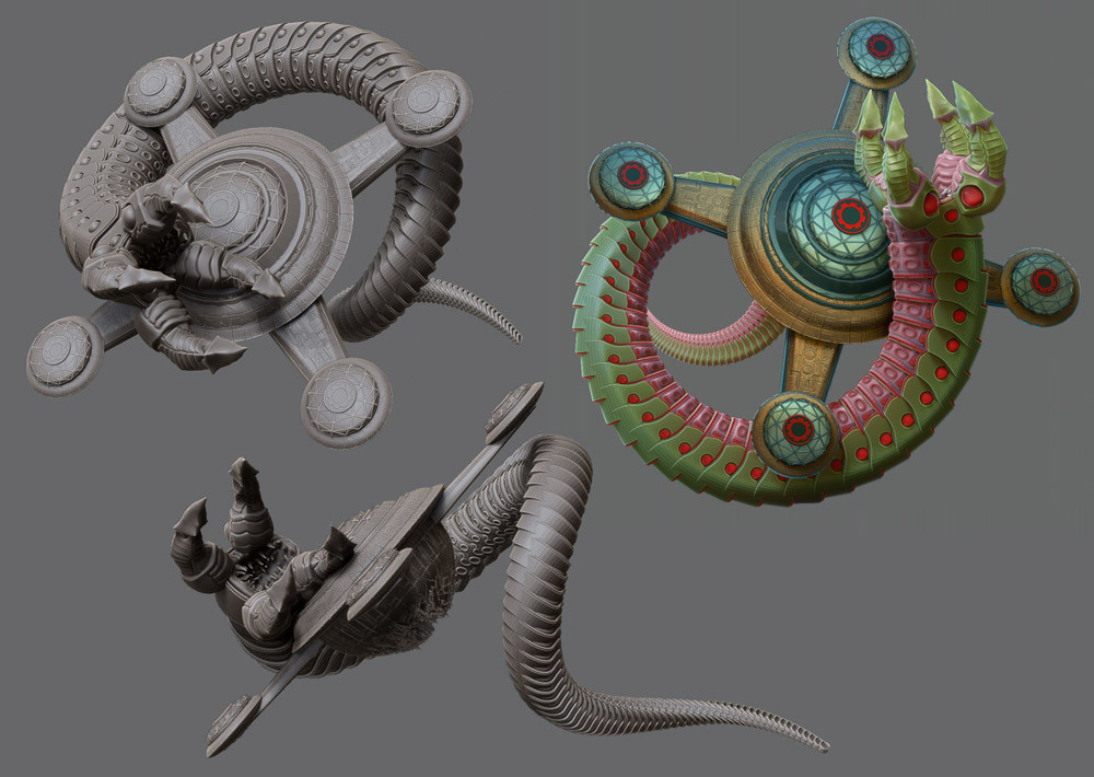 Zbrush models mostly created using Array