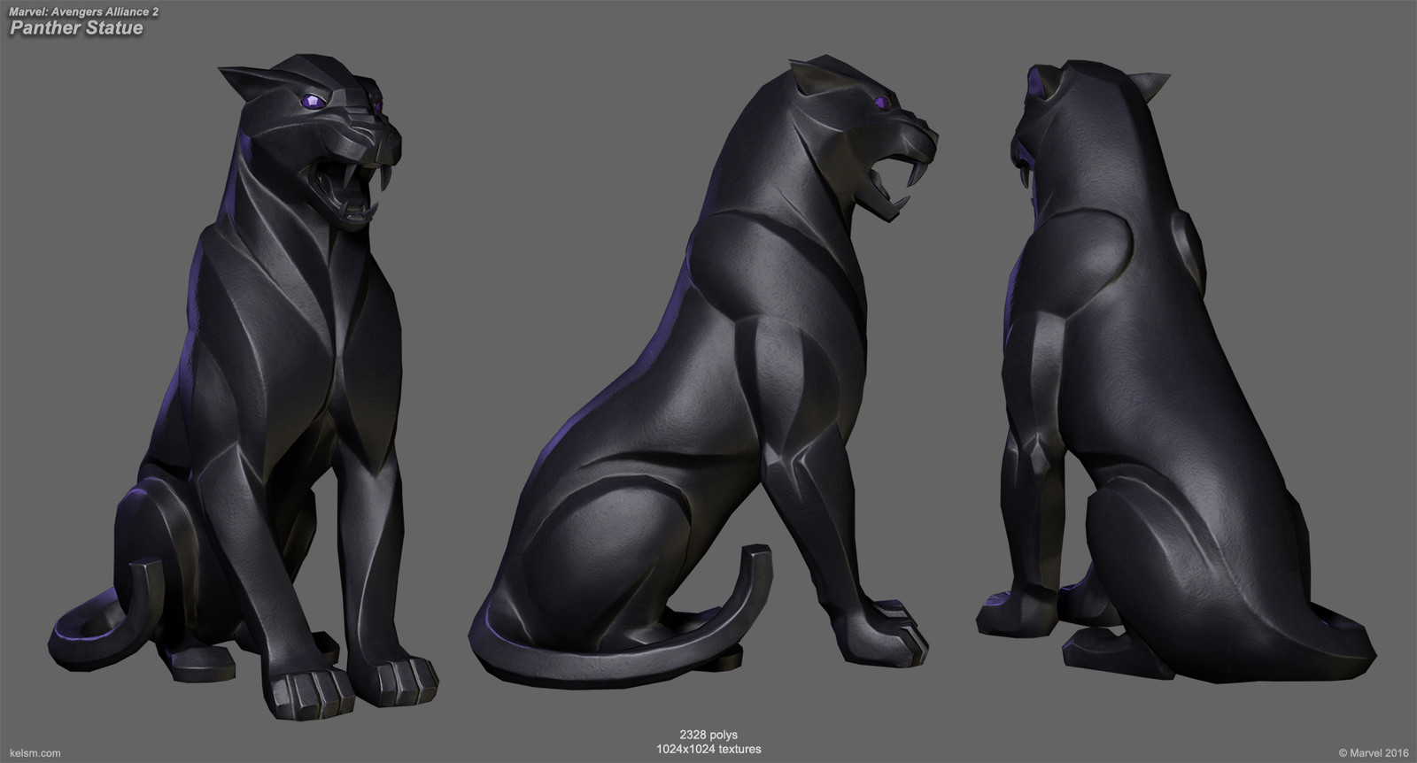 Marvel Avengers Alliance 2 - Black Panther Statues