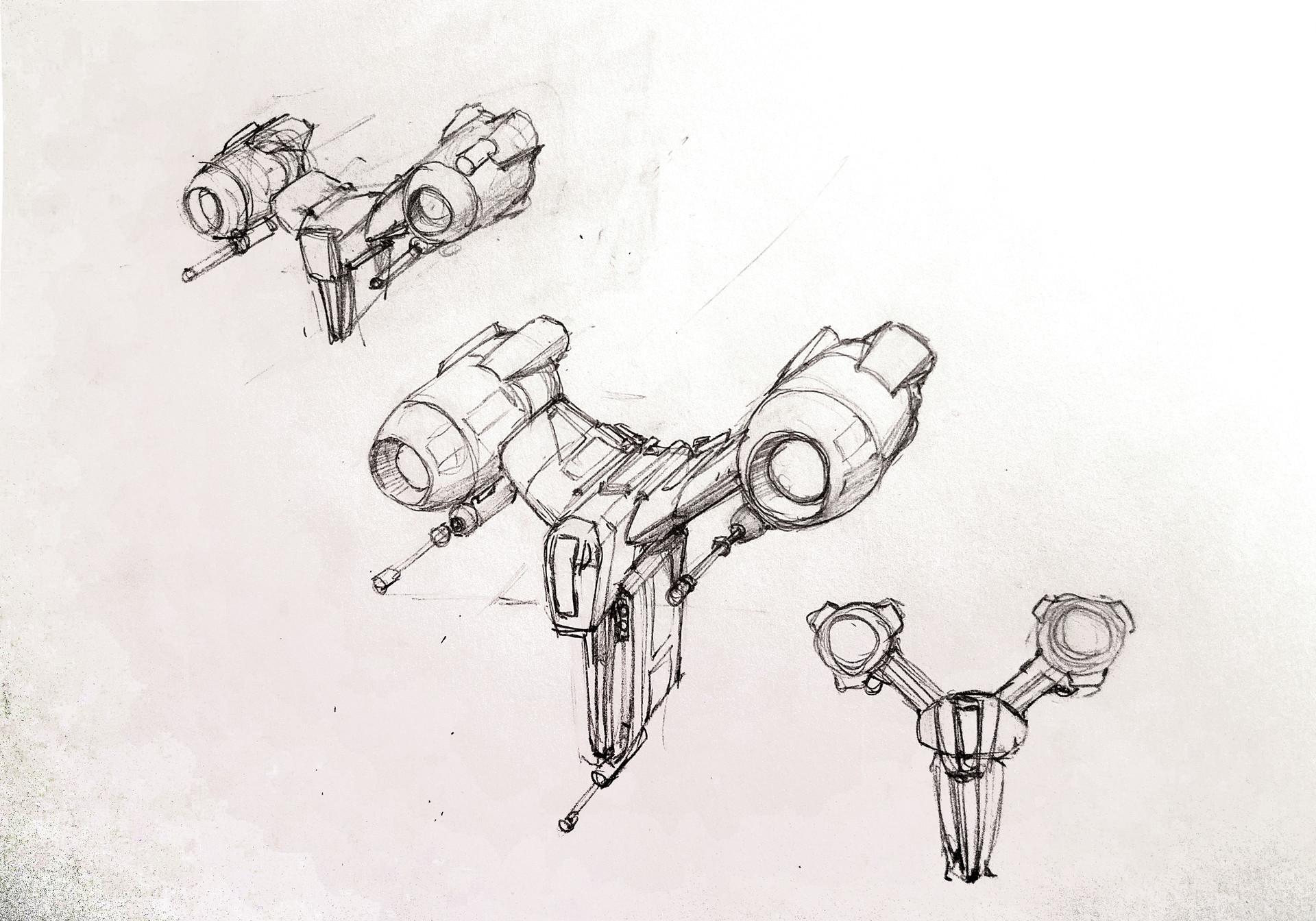 Eric geusz fighter sketches 3