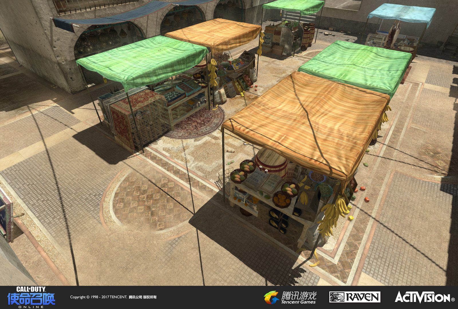 Seatown: A re-imagined multiplayer map originally appearing in Modern Warfare 3. I recreated the terrain and set dress to be more colorful and varied than the original setting.