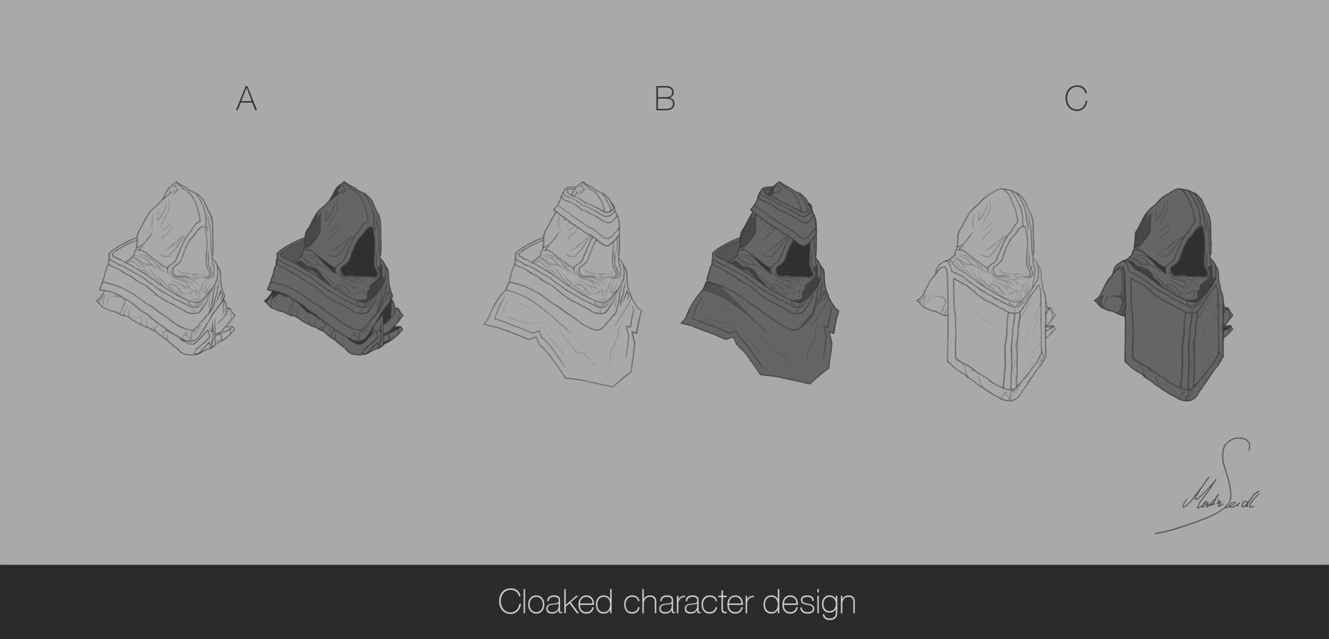 Martin seidl cloaked character design