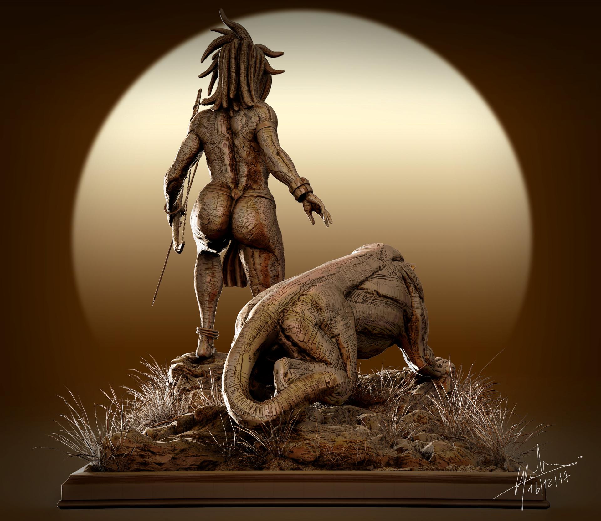 Fabien cazenabe black panter sculpt anatomy art cazenabe fabien 02