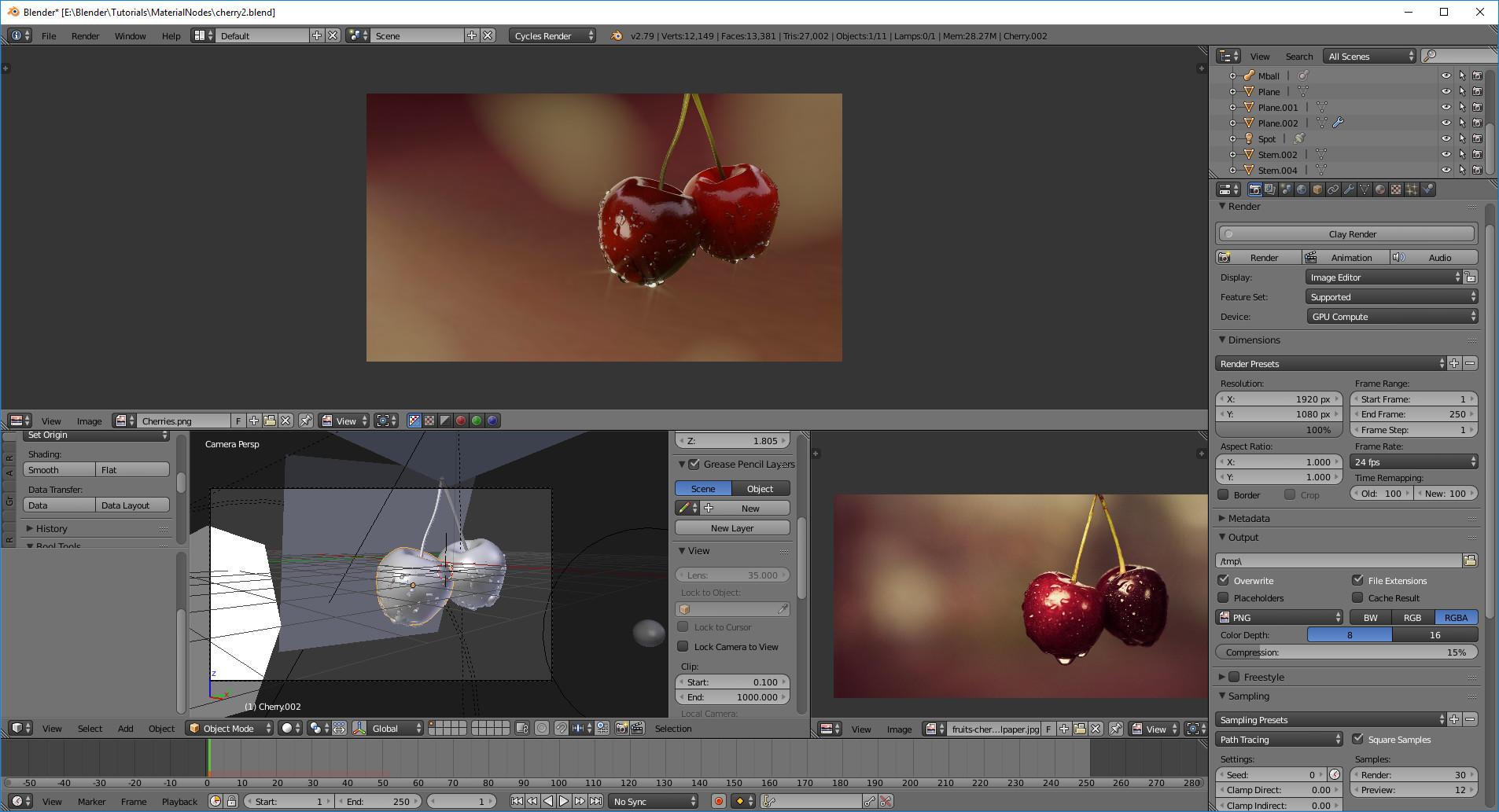 """Working mode"" in Blender"