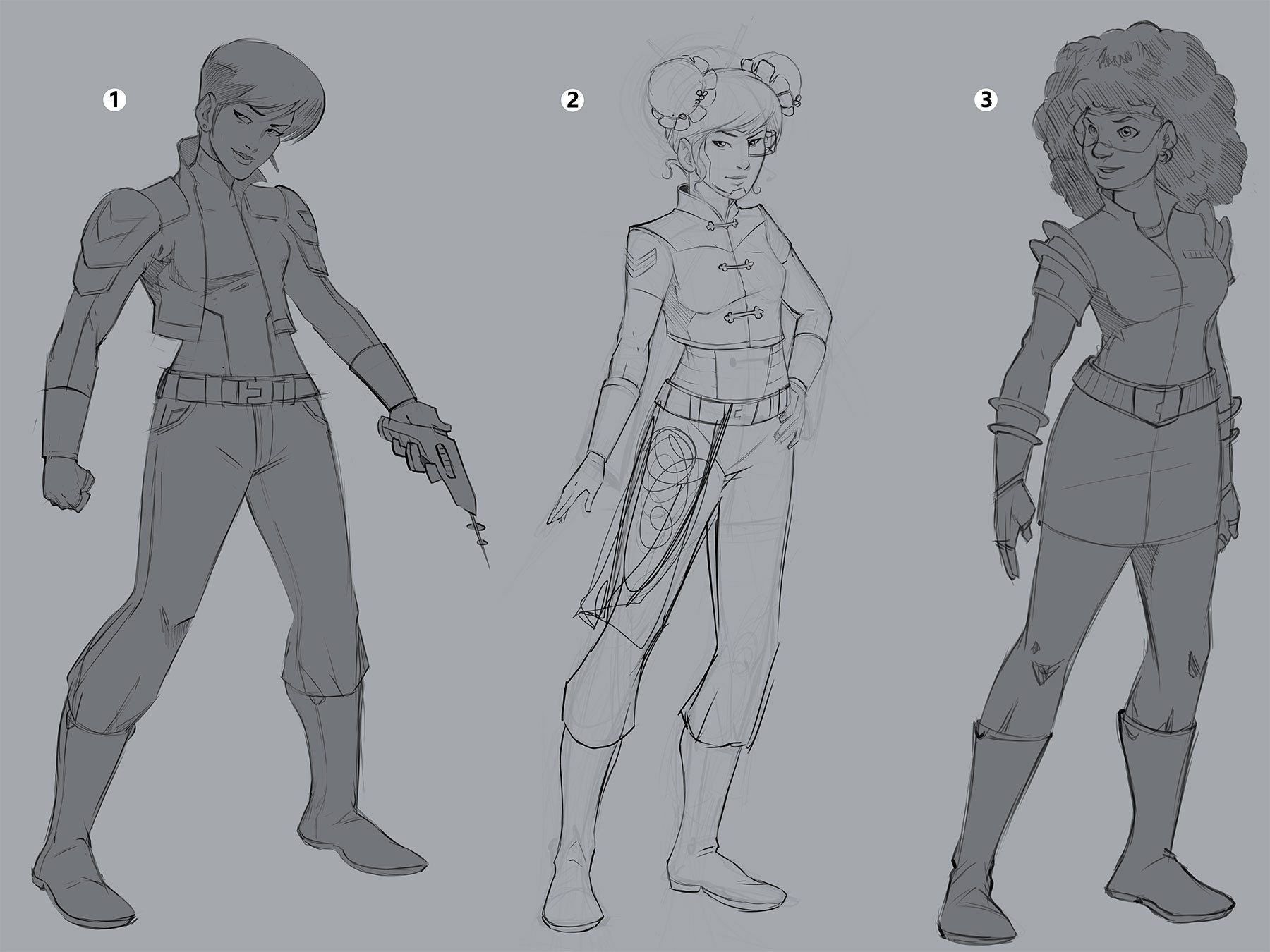 Refining the character designs
