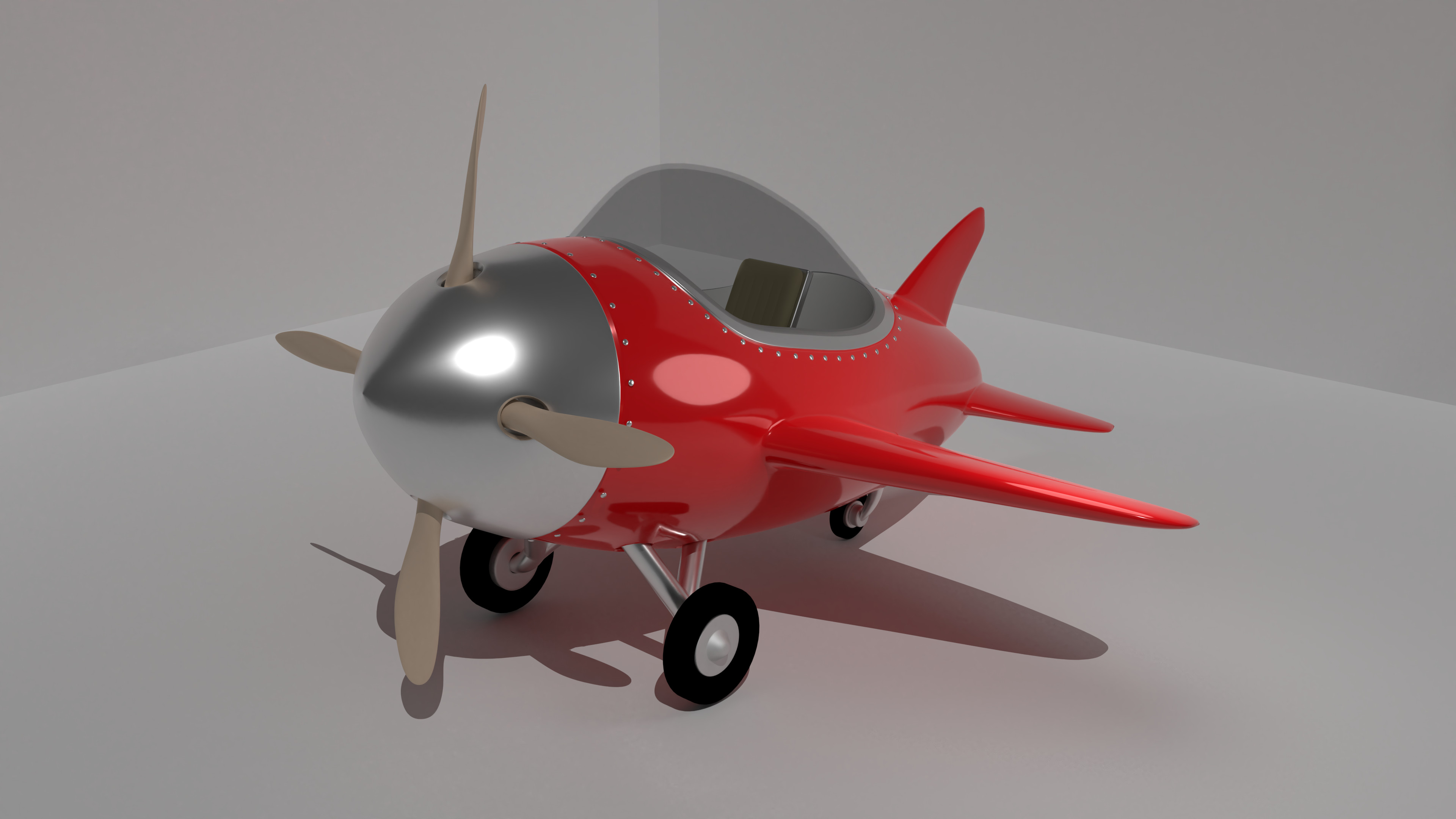Cartoon Plane covering Hard Surface Modelling