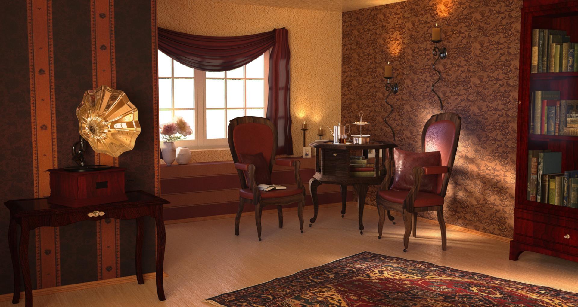 Old Fashioned Living Room Pavel Ogoreltsev, Old Fashioned Living Rooms