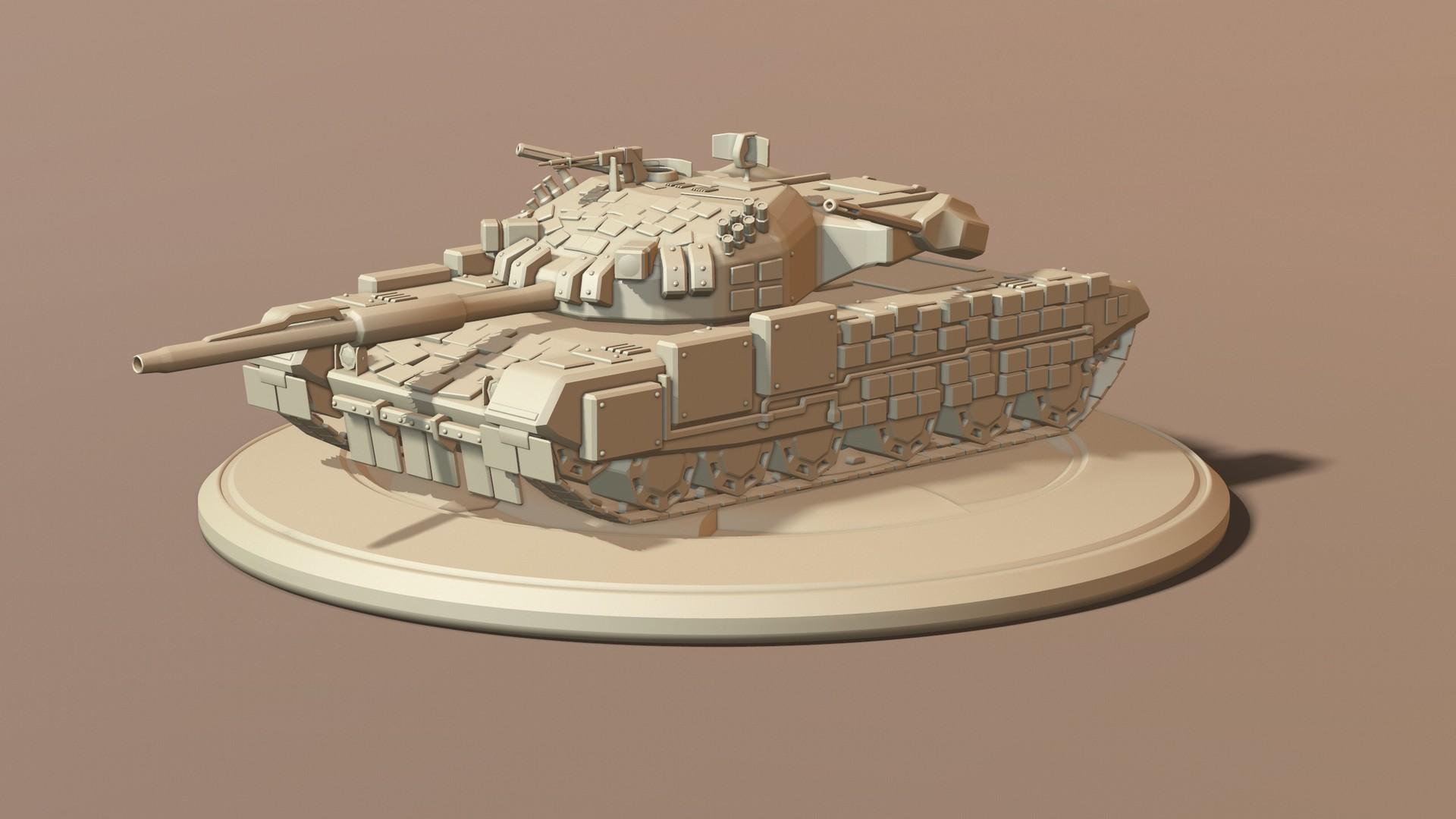 Tank, Endwar fan-art - Sculpt