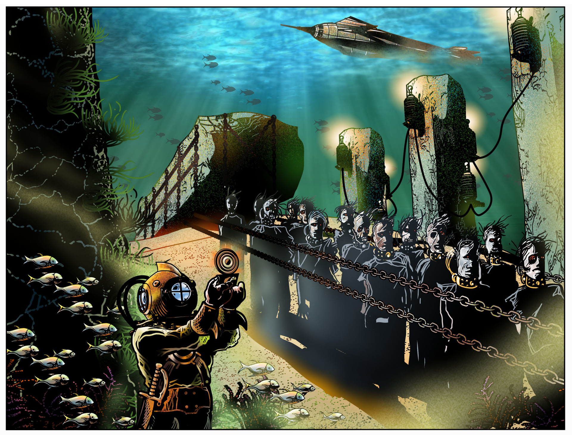"""…my Clockwork Zombies do not require air to breathe, making them the ideal underwater workforce."""