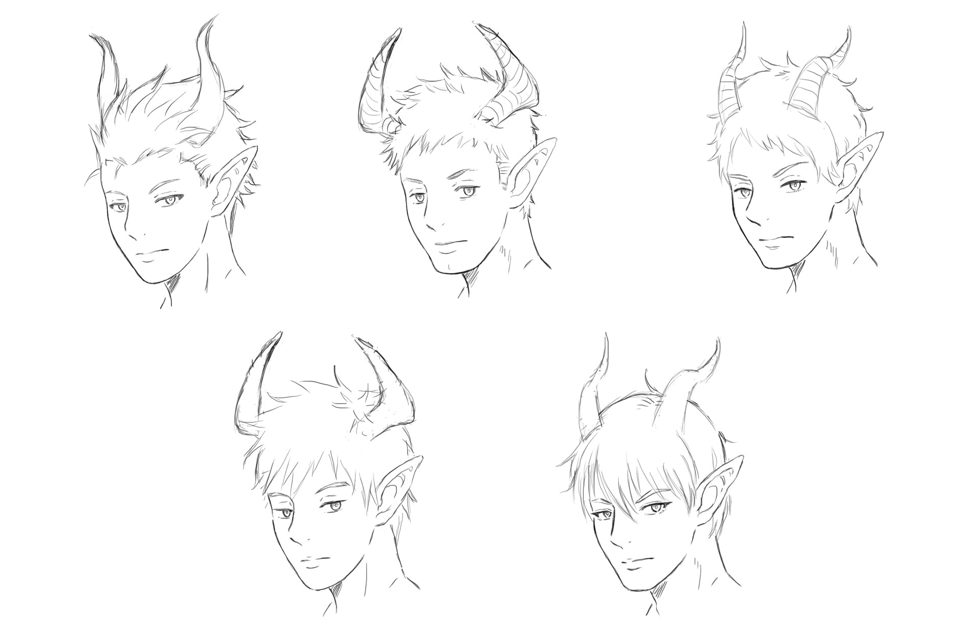 Jesu gormaz elf face sketches