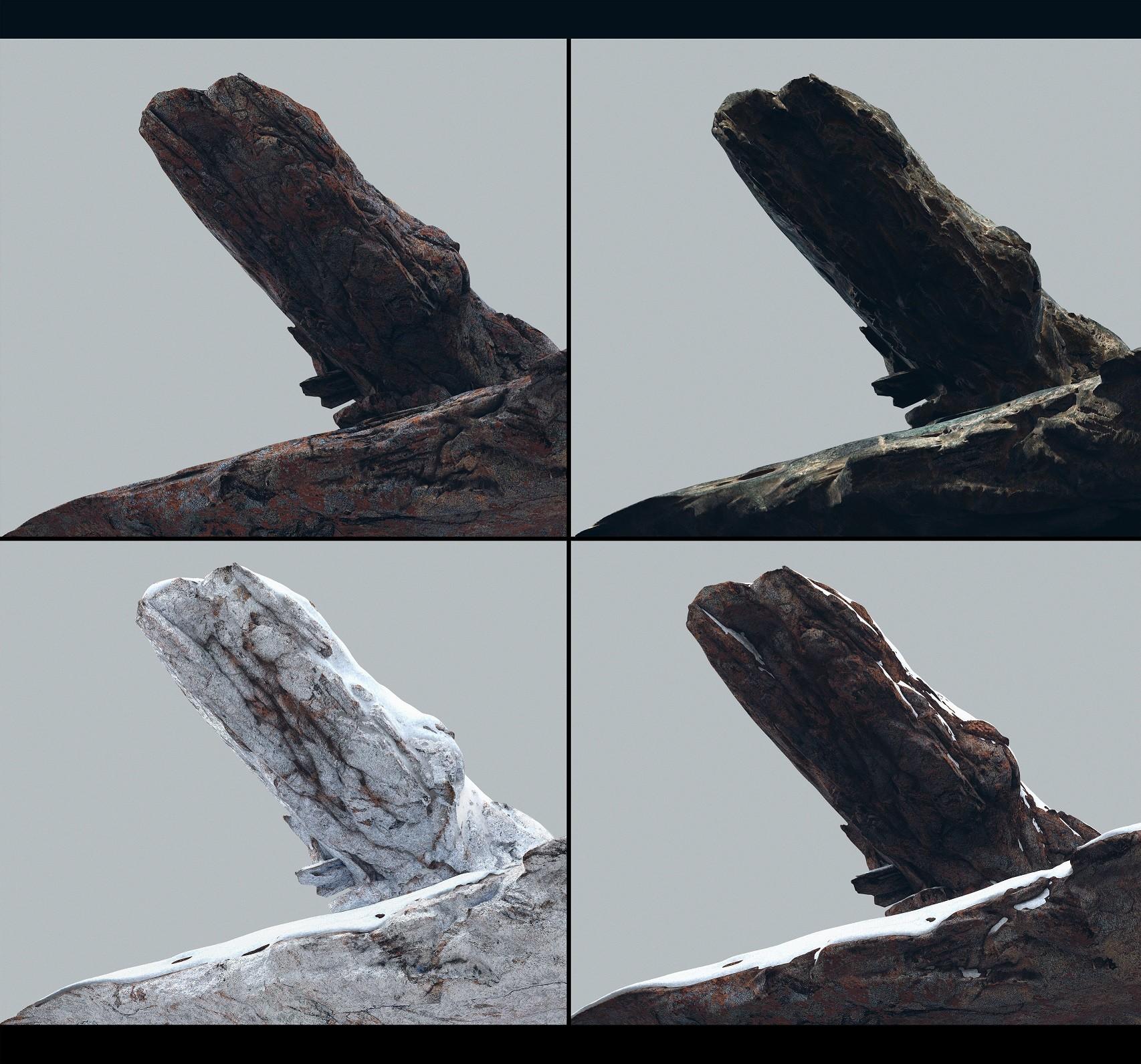 Denys tsiperko rock texturing