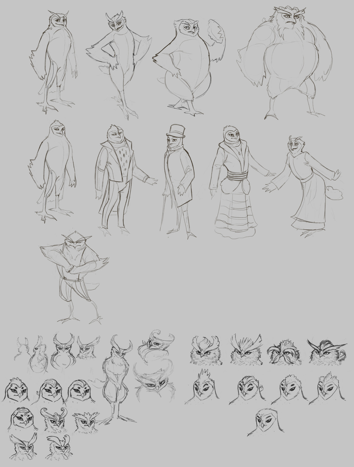 Cindy a avelino owl characters sketch2