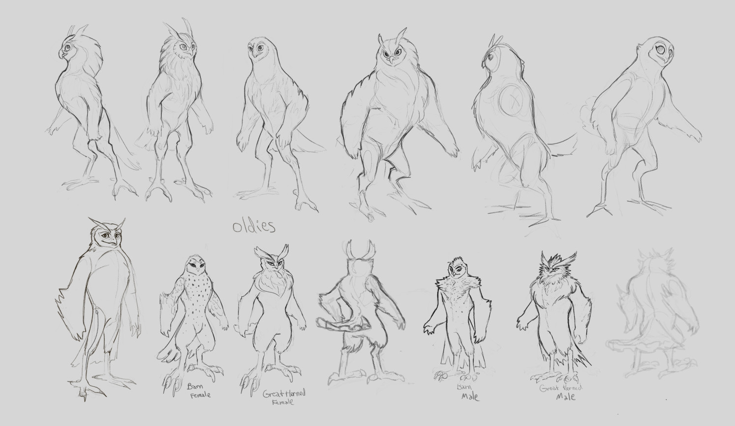 Cindy a avelino owl characters sketch4