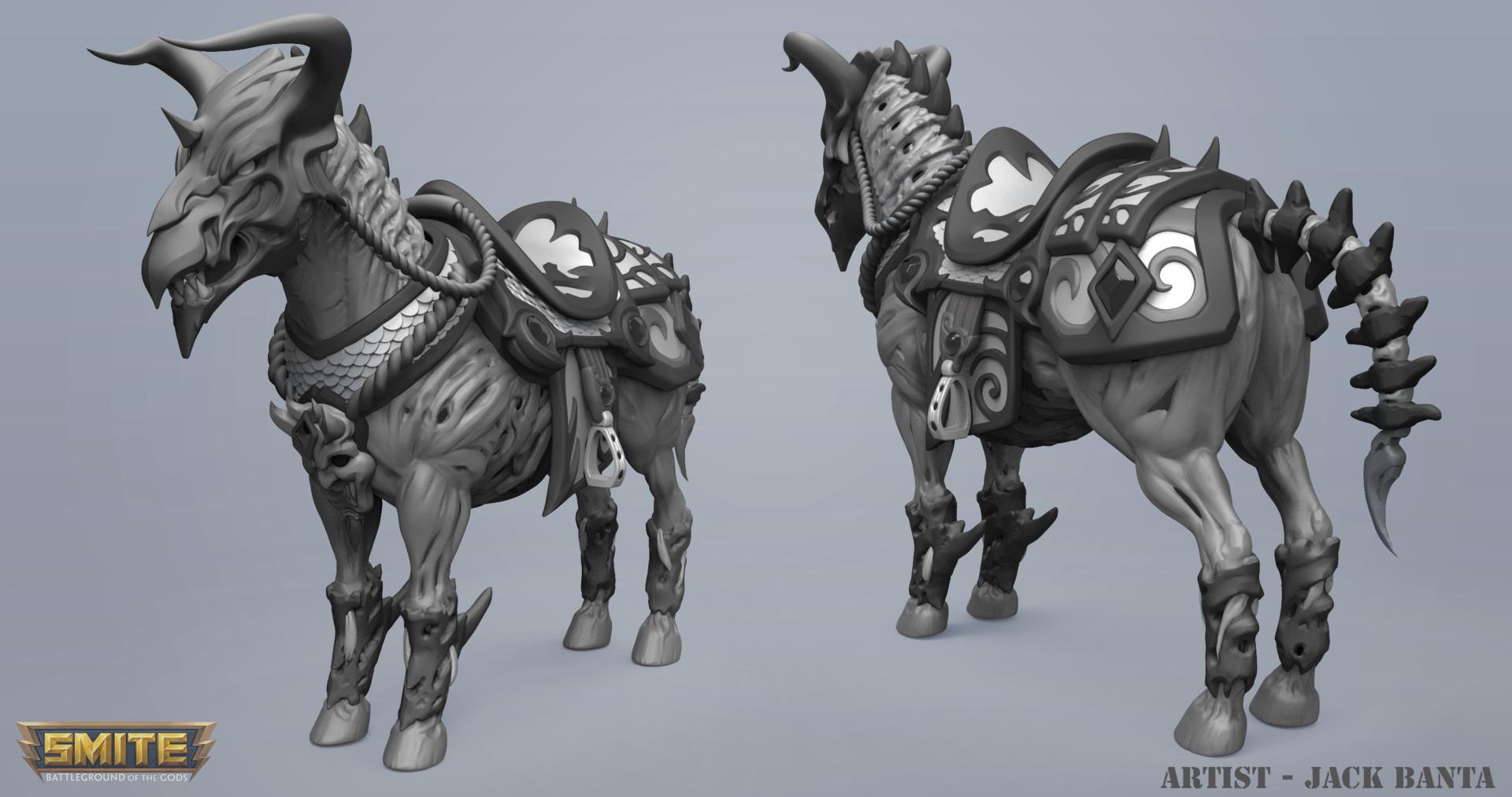 Jack banta horse sculpt1
