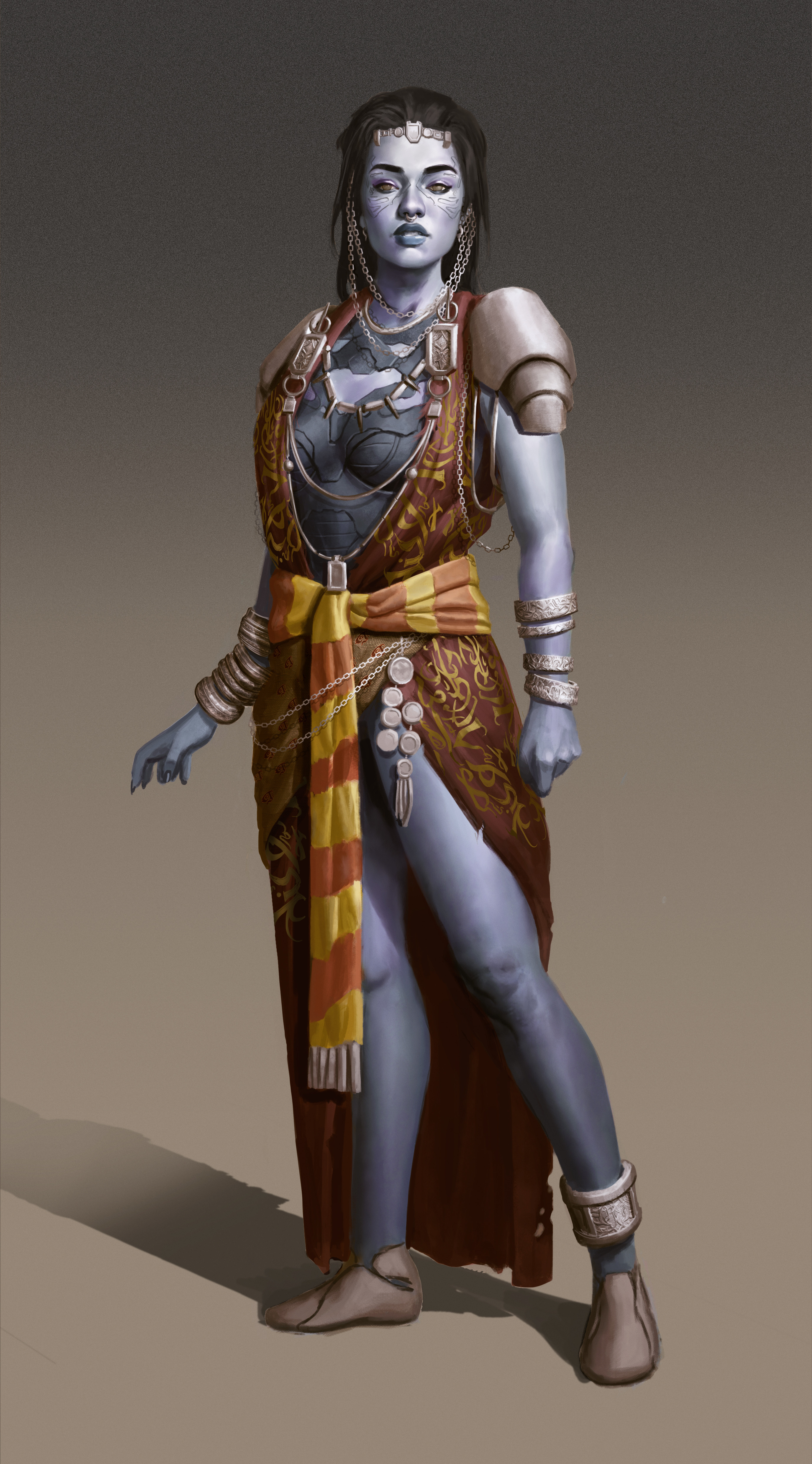 tribal queen concept for a personal project. Inspired by north african Berber culture.