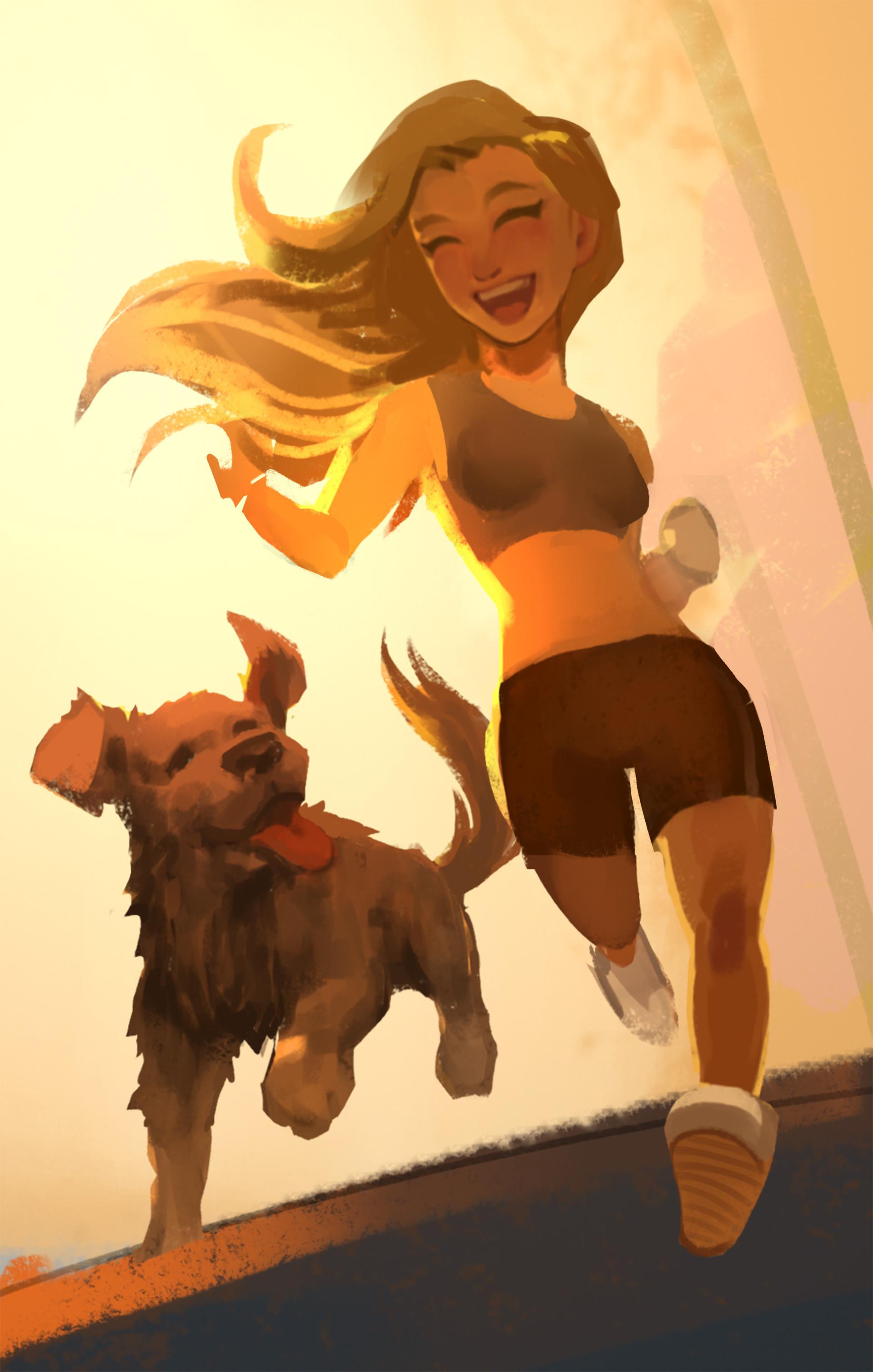 Francis brunet jogger girl1