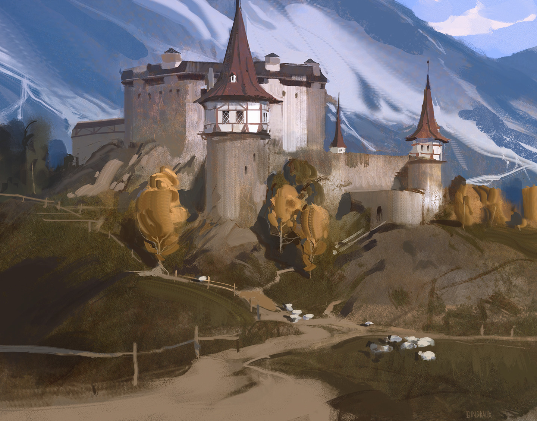 Nick gindraux castle study4 artstation