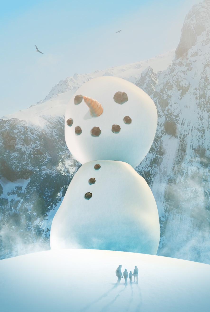 Iain gillespie snowman card7