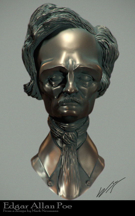 Edgar Allen Poe sculpt (done from a Mark Newman concept)