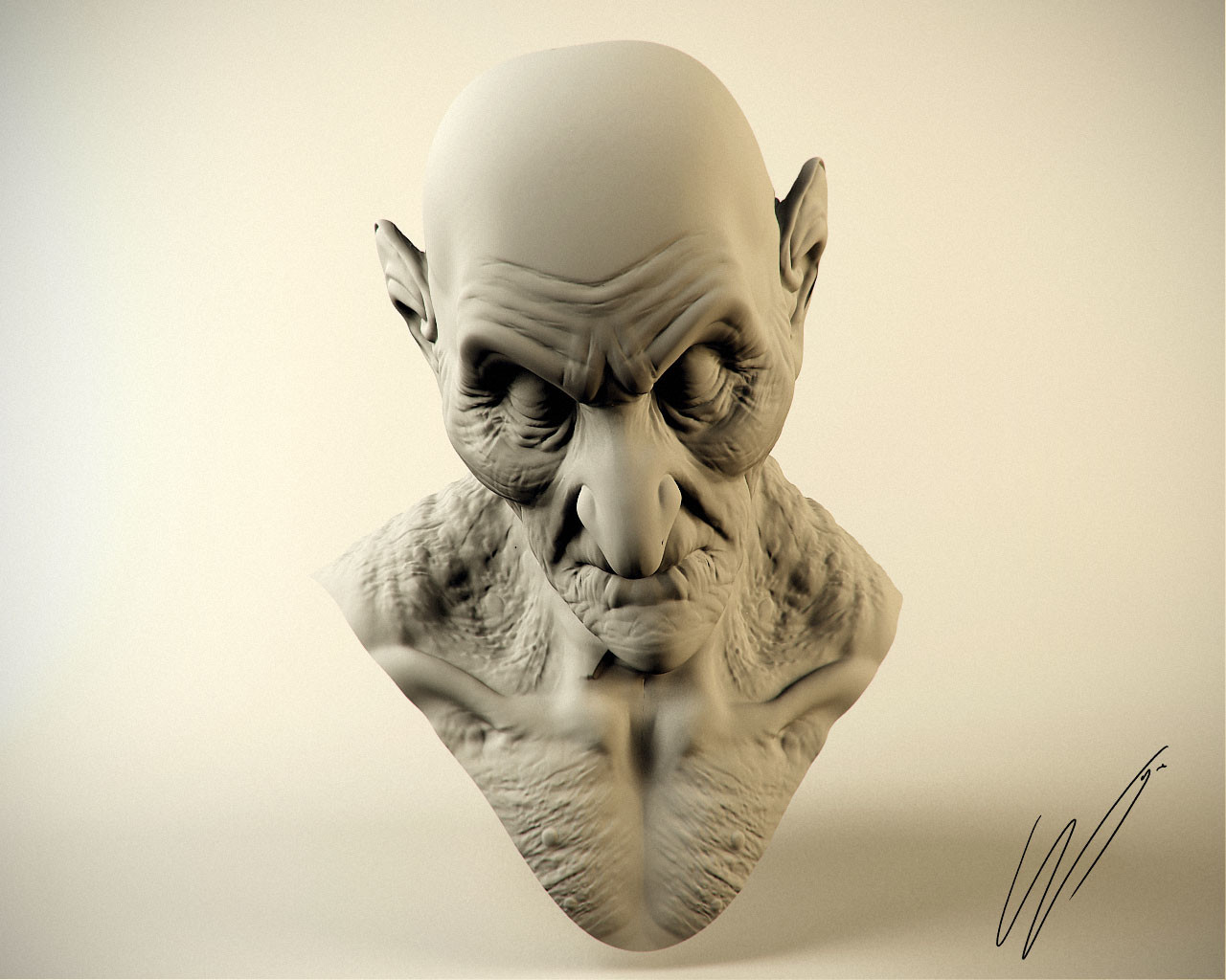 Monster concept sculpt