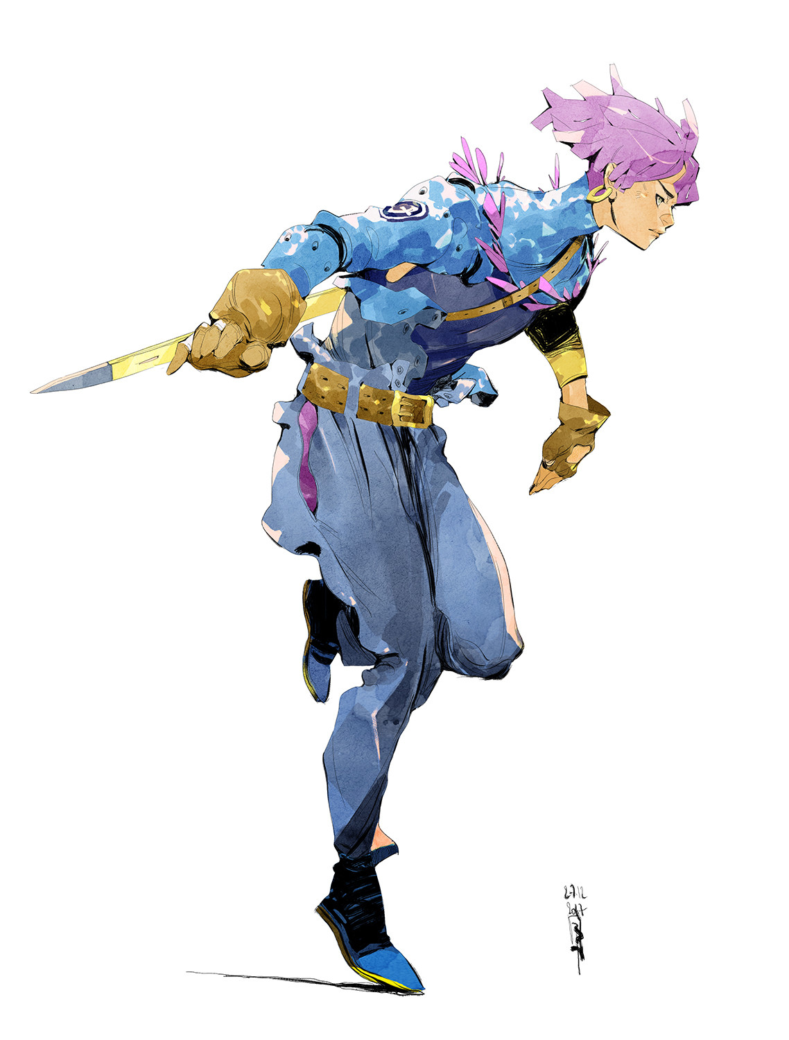 Boell oyino boell oyino character design futuretrunks artwork